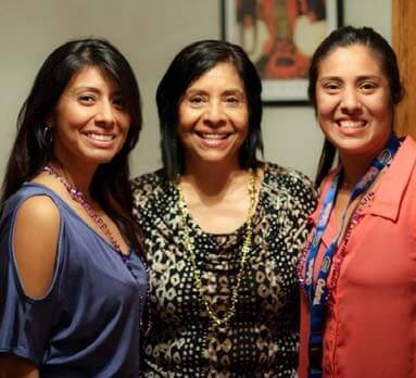 Yvette with her mom and sister